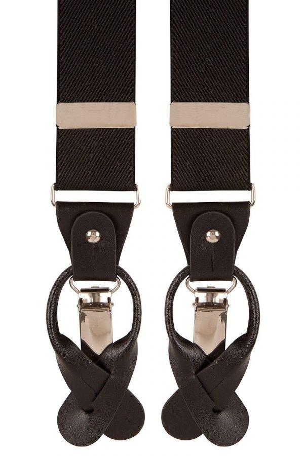 Combination Trouser Braces in Black