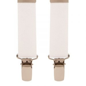 Children's Trouser Braces 3-5 Yrs 25mm White Top quality classic X-Style