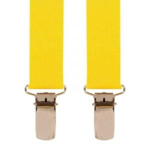 Children's Trouser Braces 5-8 Yrs 25mm Yellow