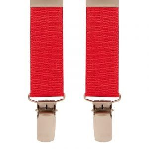Children's Trouser Braces 5-8 Yrs 25mm Red Top quality classic X-Style Children's braces in a Red design with strong metal clips.
