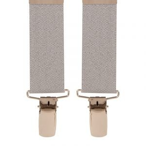 Children's Trouser Braces 5-8 Yrs 25mm Light Grey Top quality classic X-Style Children's braces in a Light Grey design, with strong metal clips.