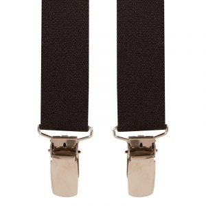 Children's Trouser Braces 5-8 Yrs 25mm Black Top quality classic X-Style Children's braces in a Black design, with strong metal clips.