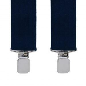 Sophos 35mm Plain Clip-on navy trouser braces