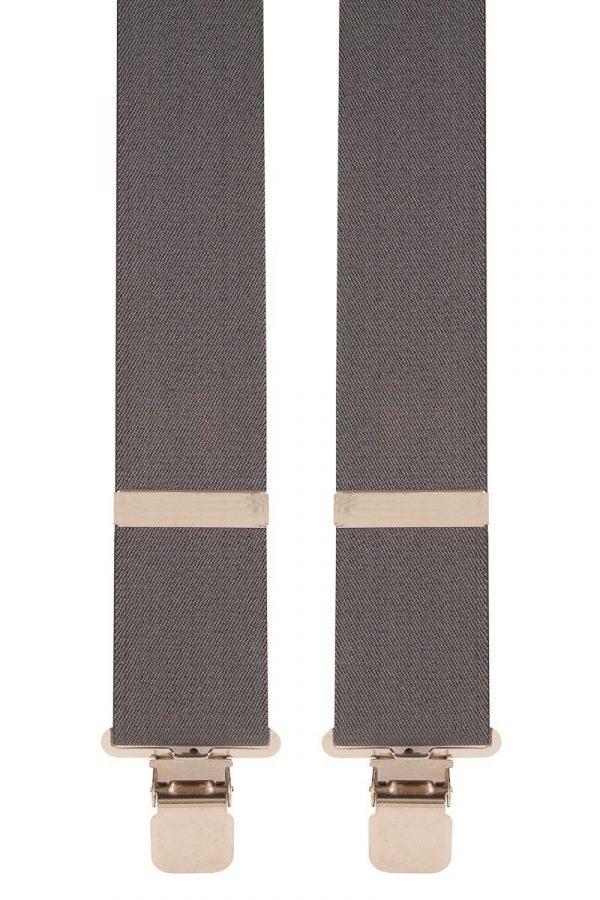 BriMarc Grey Braces. 50mm X-Style