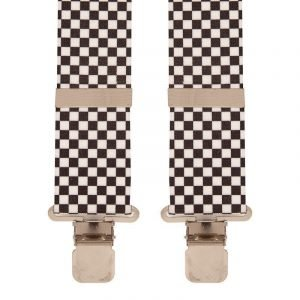 BriMarc Black & White check Braces. 50mm X-Style