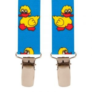 BriMarc Duck Light Blue Children's Novelty Braces. 25mm X-Style