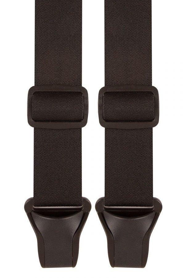 Black Trouser Braces Black 35mm X Back Airport Trouser Braces (Plastic Clips)