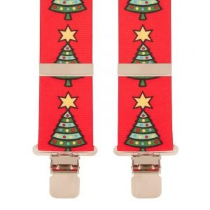 BriMarc Red Christmas Tree Braces 35mm X-Style