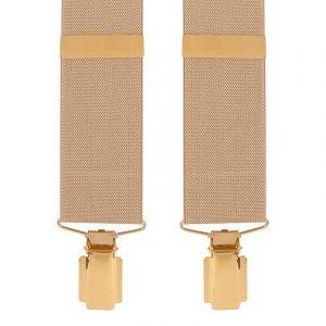 Traditional Plain Trouser Braces in Beige 35mm Solid Colour Trouser Braces