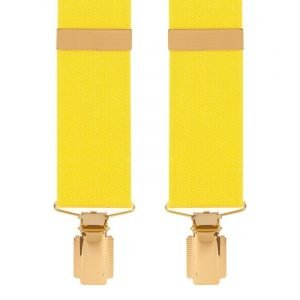 Traditional Plain Trouser Braces in yellow