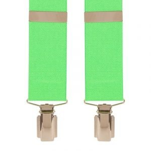 Traditional Plain Trouser Braces in Lime Green