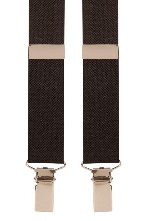 Narrow Skinny Trouser Braces in Black 25mm Straps