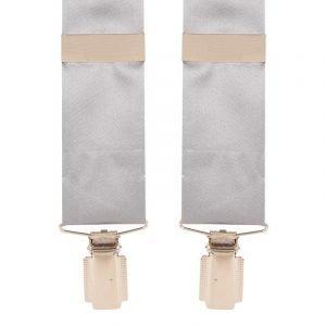 Silk Satin Classic Wedding Trouser Braces in Grey 35mm Y-Style