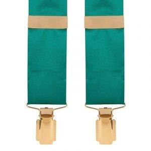 Silk Satin Classic Wedding Trouser Braces in Jade Green