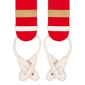 Albert Thurston Boxcloth Braces in Red 35mm X-Style