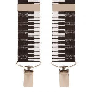 Piano Keys Trouser Braces X Style