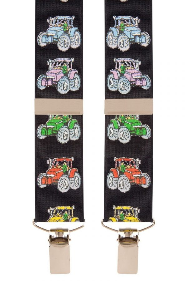 Tractor Trouser Braces in Navy Blue