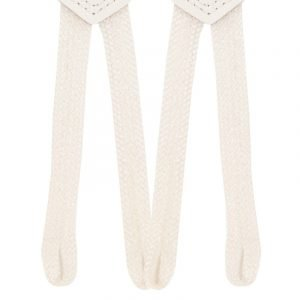 Plain Button End Trouser Braces in White