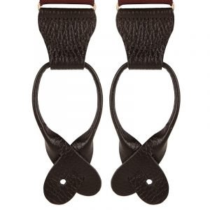 Burgundy Polka Dot Button Braces