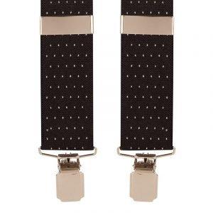 Polka Dot Trouser Braces in Black/White