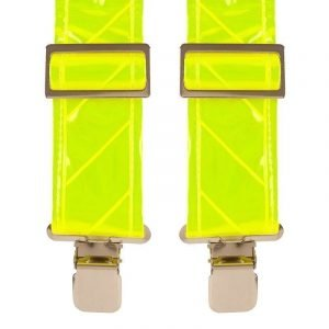 Hi-Vis Reflective Safety Trouser Braces in Yellow