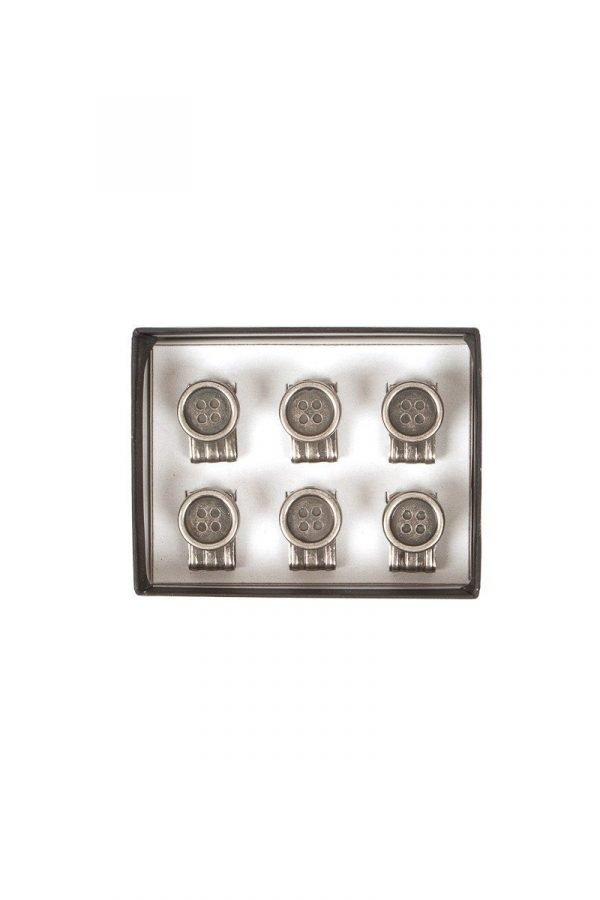 6 Pack Clip On Buttons for Braces Trouser brace manufacturer: Albert Thurston