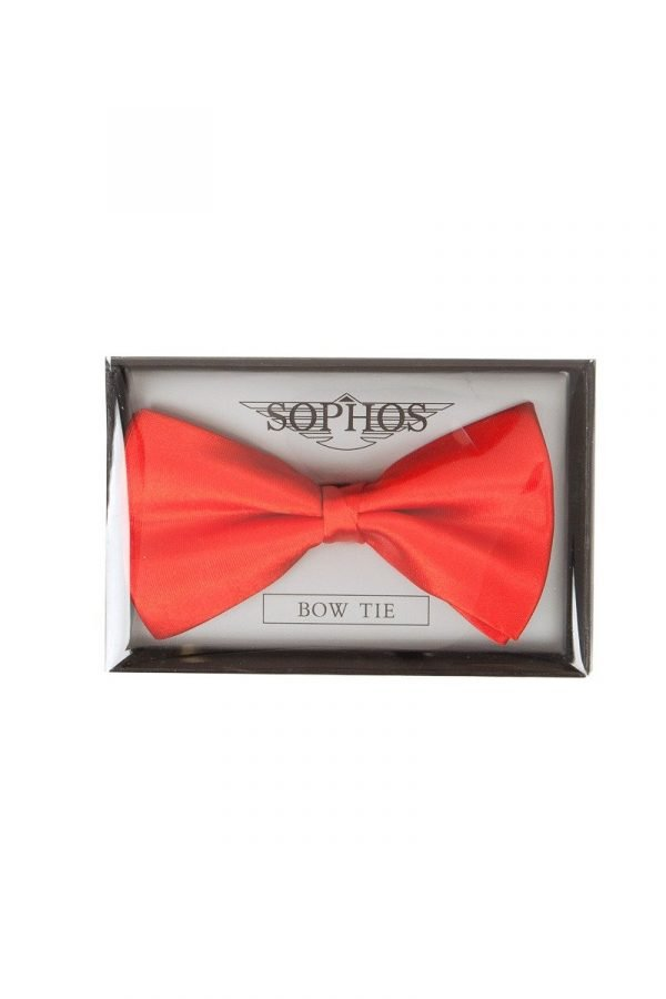 Pre-Tied Plain Co-ordinating Bow Tie in Red