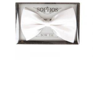 Pre-Tied Plain Co-ordinating Bow Tie in White
