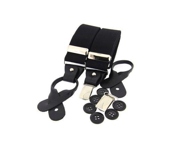 Dual Clip Plain Trouser Braces